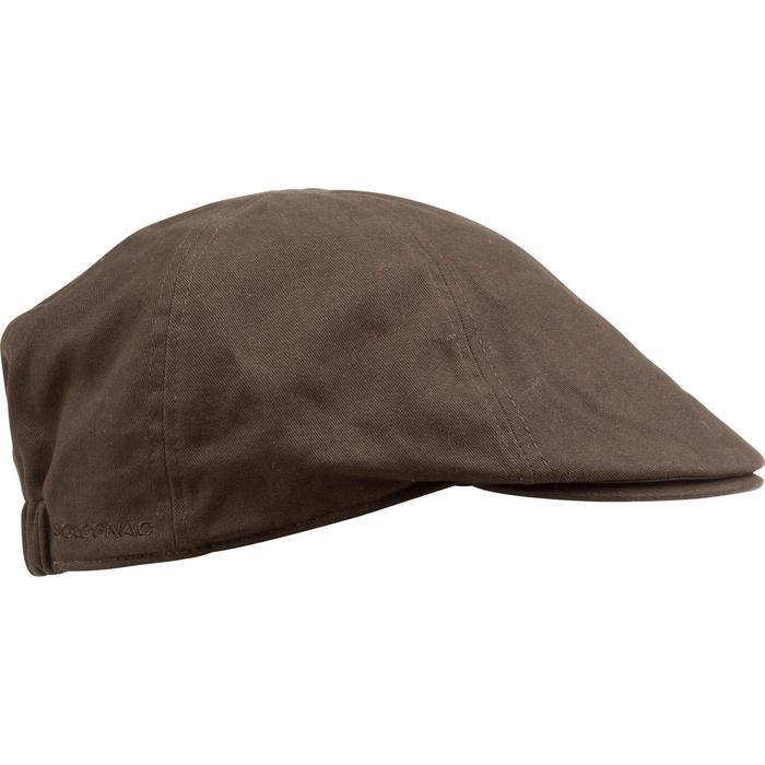 Jagd-Schirmmütze flach Steppe braun