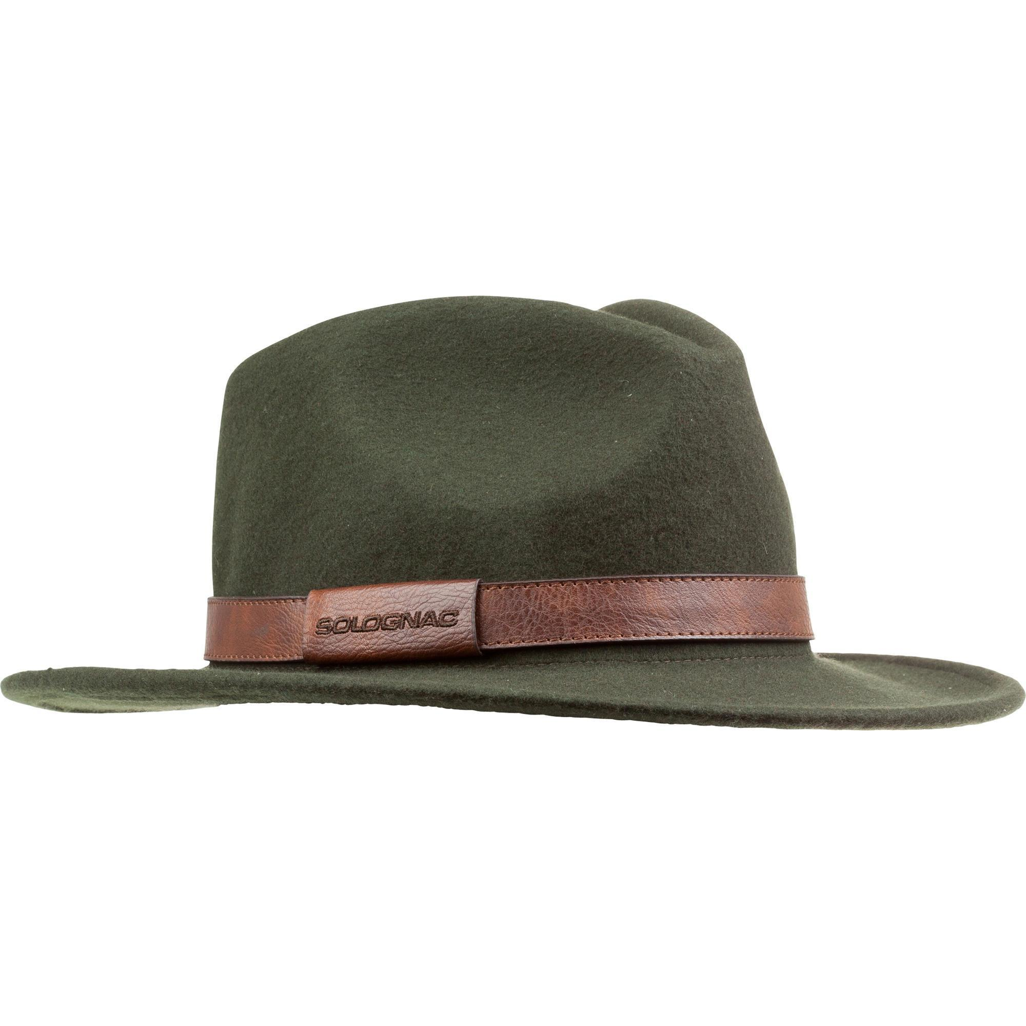 Jagd-Filzhut grün | Accessoires > Hüte > Filzhüte | Grün - Khaki | Solognac