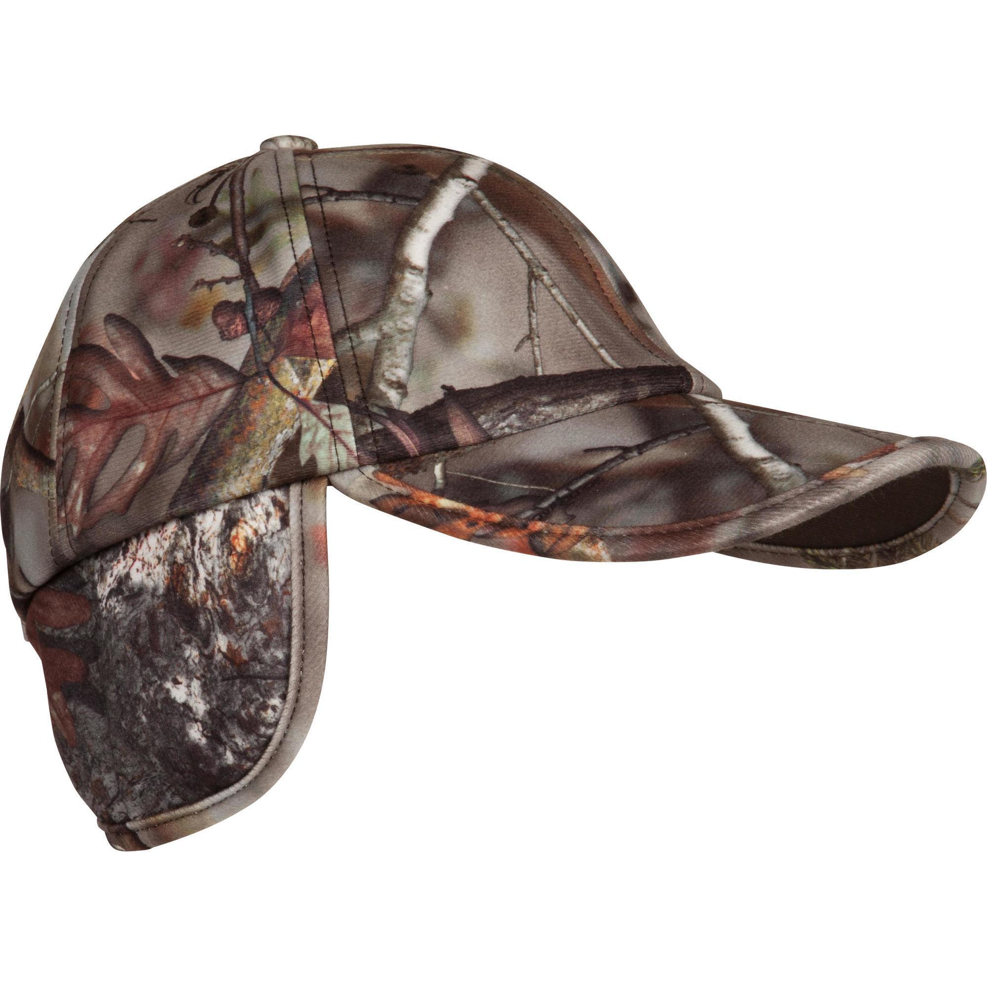 Solognac Warme jagerspet met flappen en Actikam-camouflage