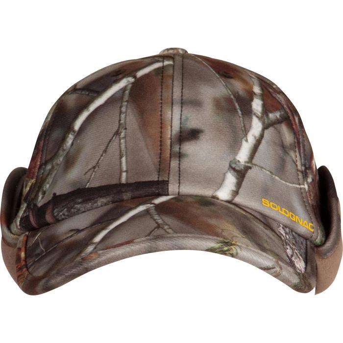 Gefütterte Jagdmütze mit Ohrenklappen Actikam Camouflage braun