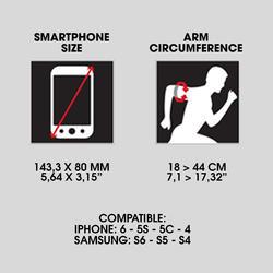 Smartphonearmband voor running - 982454