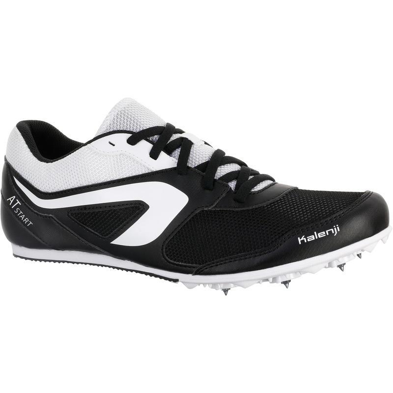 zapatos de separación linda Reino Unido ZAPATILLAS DE ATLETISMO CON CLAVOS POLIVALENTE NEGRO BLANCO