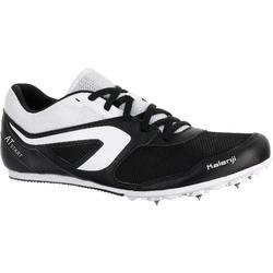 Atletiekschoenen met spikes veelzijdig zwart/wit