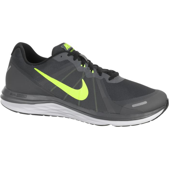 chaussure de running course à pied homme NIKE DUAL FUSION X2 noire gris - 982667