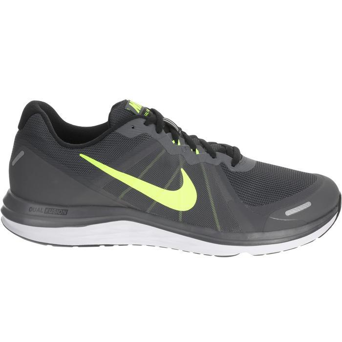 chaussure de running course à pied homme NIKE DUAL FUSION X2 noire gris - 982923