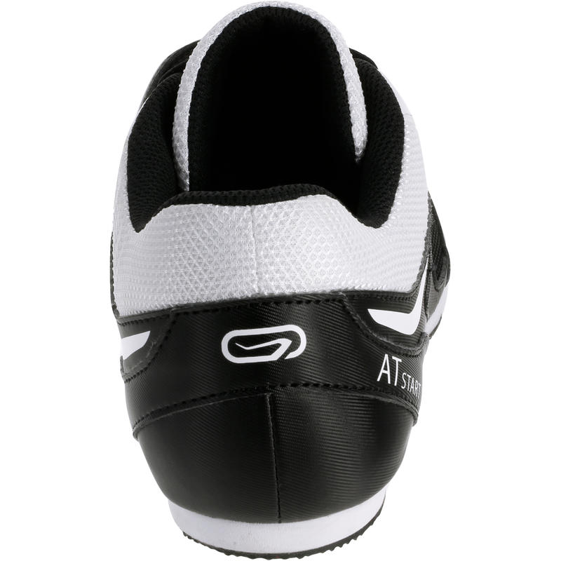 ATHLETICS TRAINERS WITH SPIKES BLACK WHITE