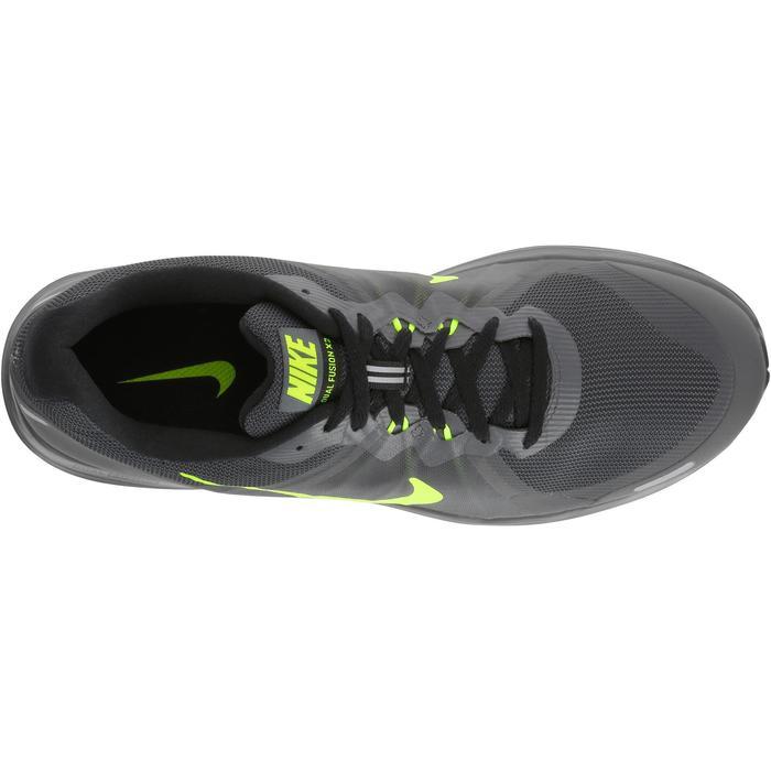 chaussure de running course à pied homme NIKE DUAL FUSION X2 noire gris - 982987