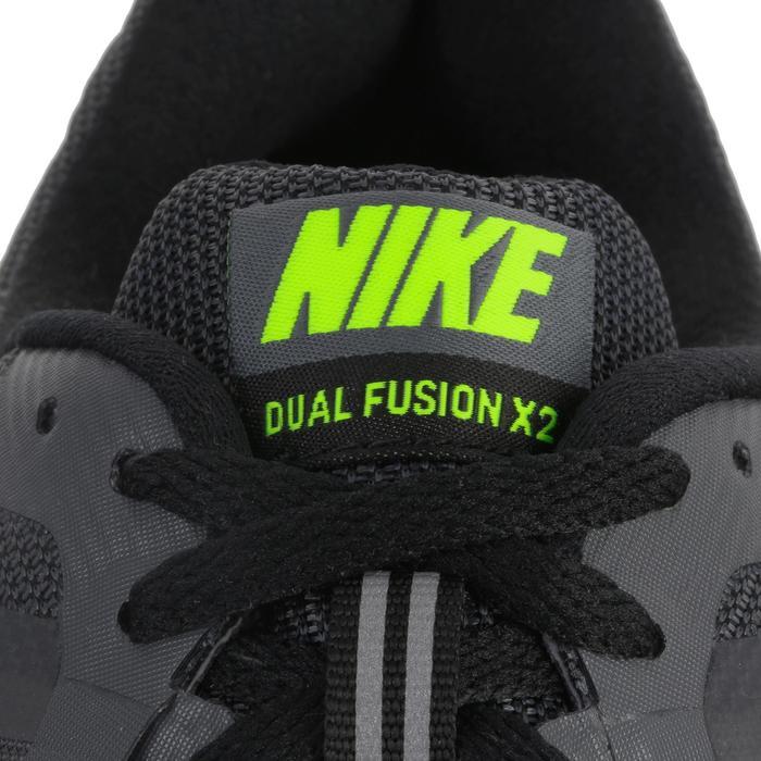 chaussure de running course à pied homme NIKE DUAL FUSION X2 noire gris - 982998