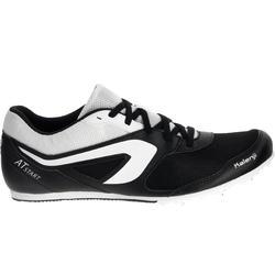 Atletiekschoenen met spikes zwart/wit - 983017