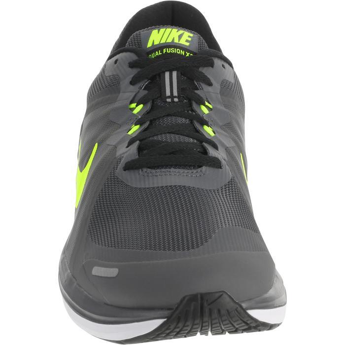 chaussure de running course à pied homme NIKE DUAL FUSION X2 noire gris - 983033