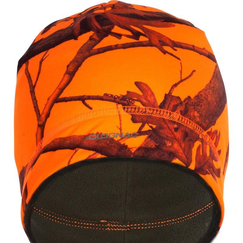 Omkeerbare jachtmuts 500 camouflage oranje/groen