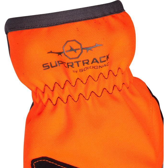 Guantes Caza Solognac Supertrack 500 Impermeable Reforzado Antidesgarros Naranja