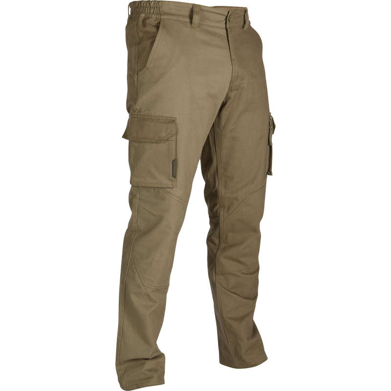 TROUSERS/SHIRTS Shooting and Hunting - 520 Trousers - Khaki SOLOGNAC - Hunting and Shooting Clothing