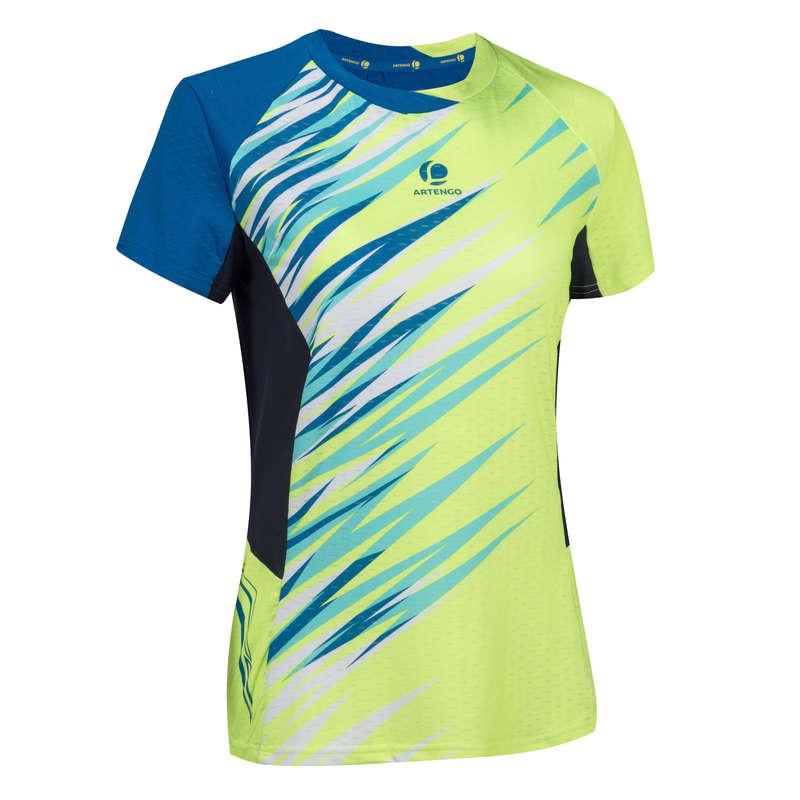 WOMEN'S INTERMEDIATE BADMINTON APPAREL Badminton - 860 Women's T-Shirt Yellow PERFLY - Badminton Clothing