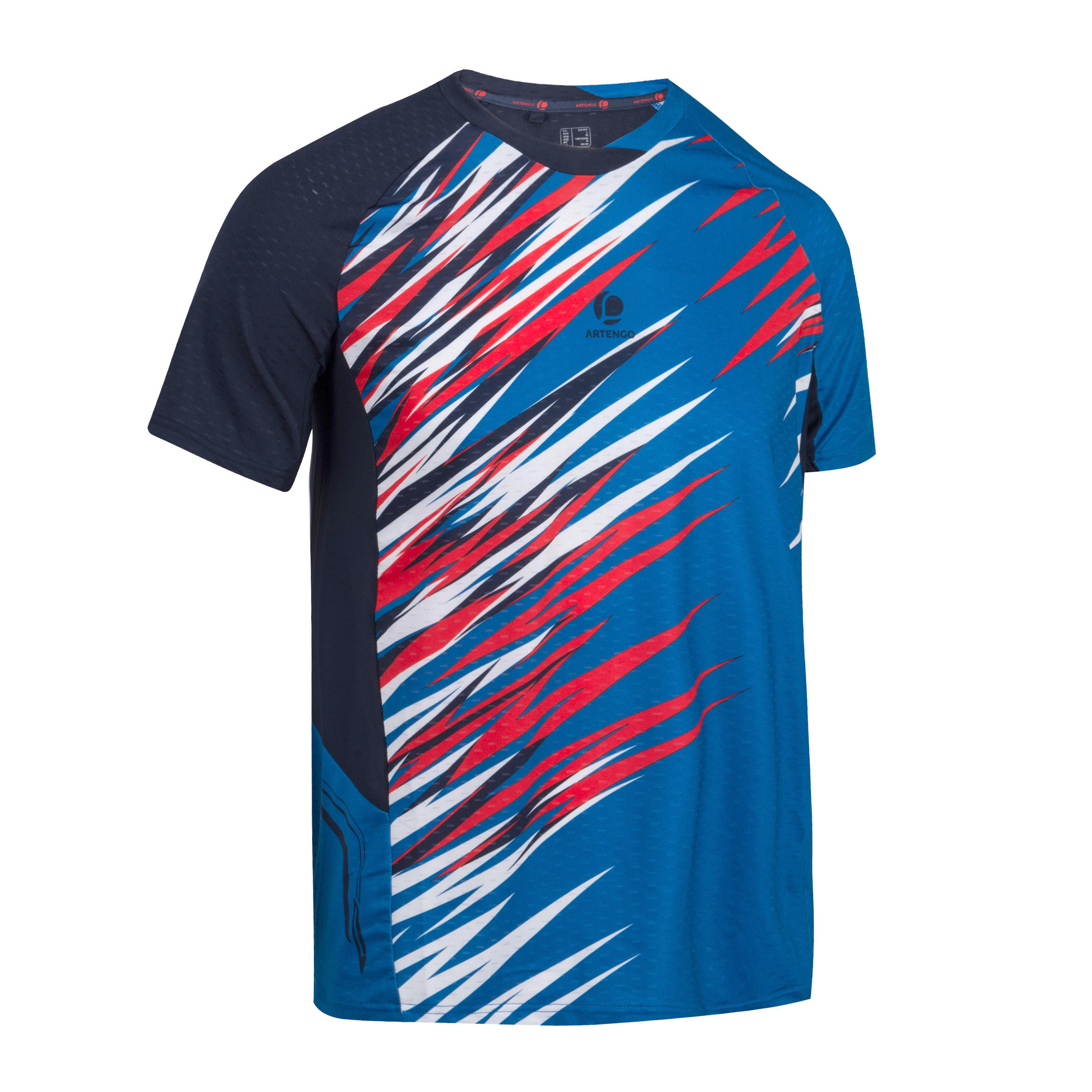 Dry 590 Badminton Tennis Table Tennis Padel Squash T-Shirt - Blue/Red