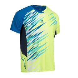 860 羽毛球乒乓球板網球壁球T恤- 黃色