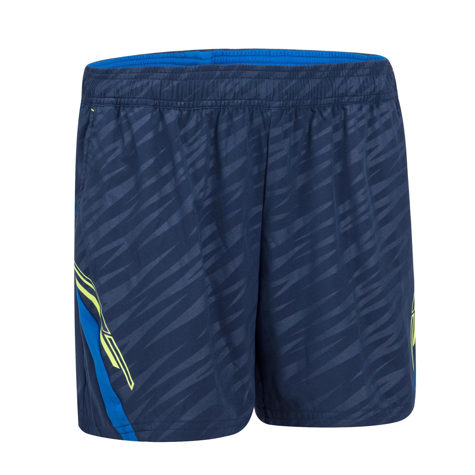 Artengo Damesshort 860 marineblauw/geel badminton