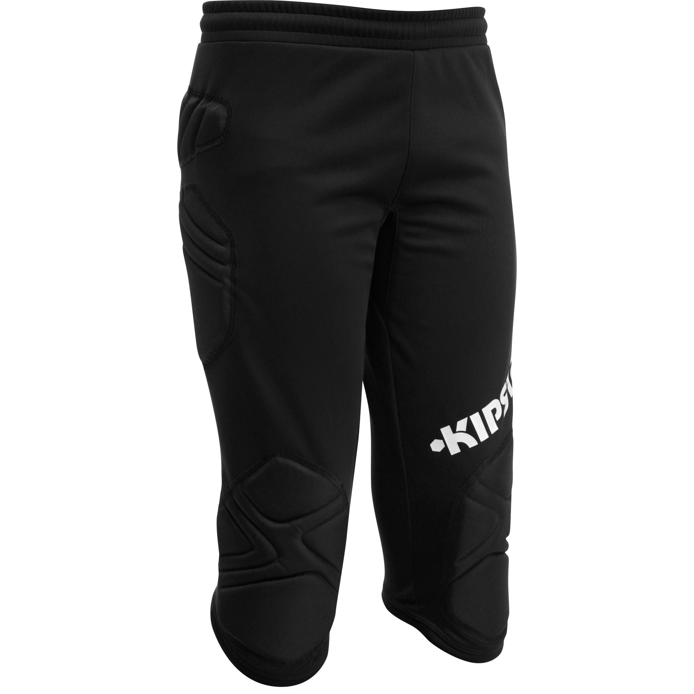 Pantalón pirata de portero de fútbol para niños F300 negro