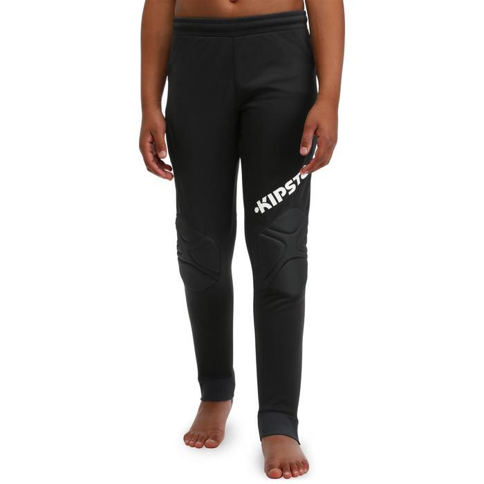 Pantalón de portero de fútbol adulto F300 negro
