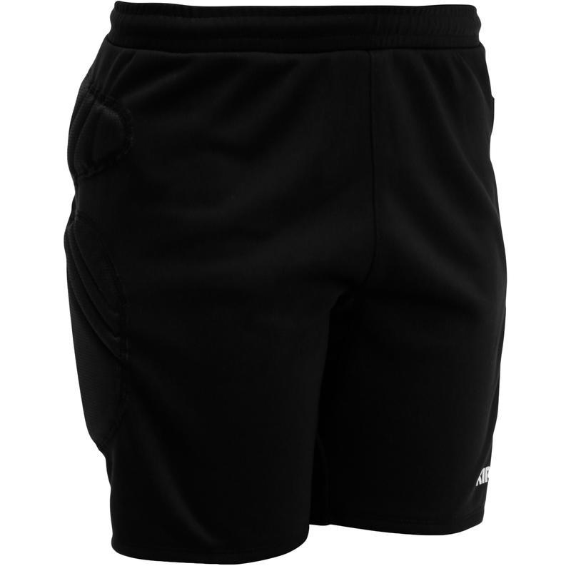 กางเกงผู้รักษาประตูขาสั้นสำหรับเด็กรุ่น F300 (สีดำ)
