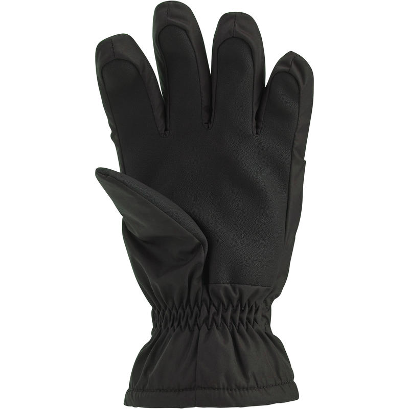 CHILD SKI GLOVES SLIDE 100 BLACK