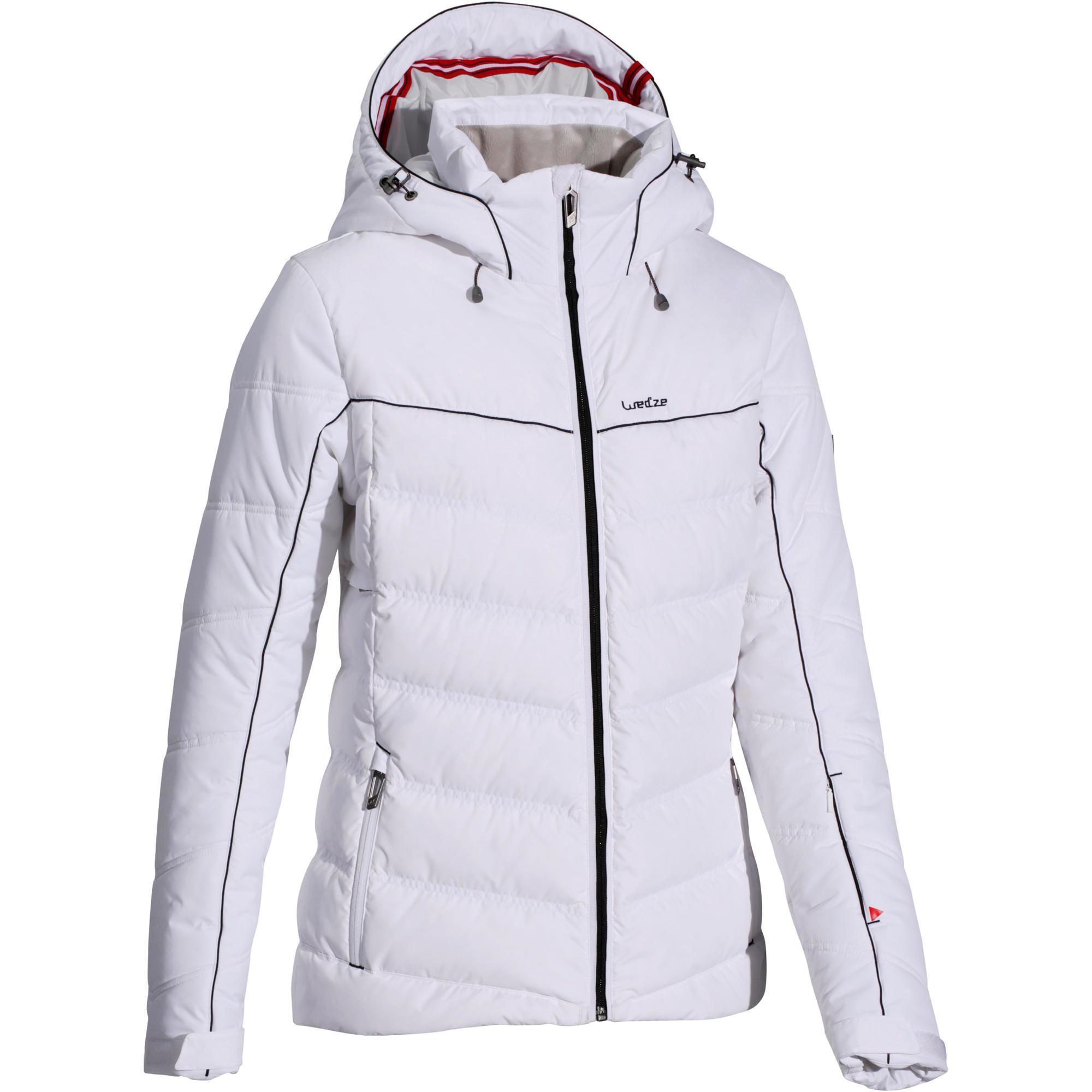 veste ski femme slide 500 warm blanche wedze. Black Bedroom Furniture Sets. Home Design Ideas