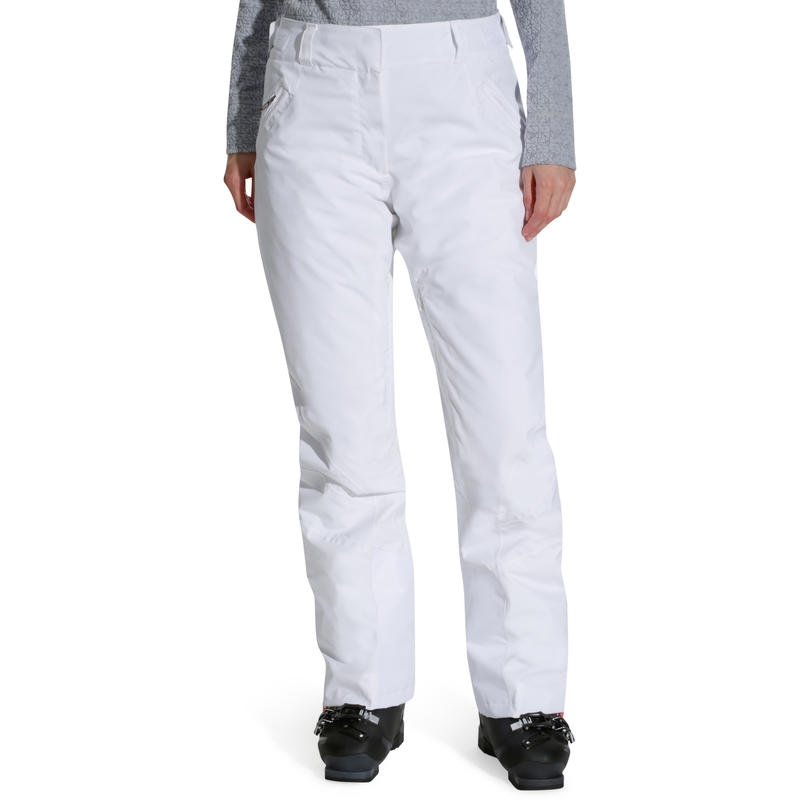 Pantalon Ski Femme Slide 700 Blanc Decathlon Martinique