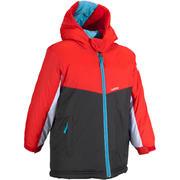 Rdeča smučarska jakna 100 za otroke