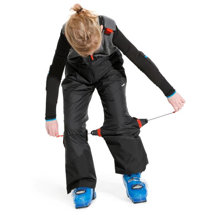 Kinder skibroek 300 Pull'nFit zwart/grijs