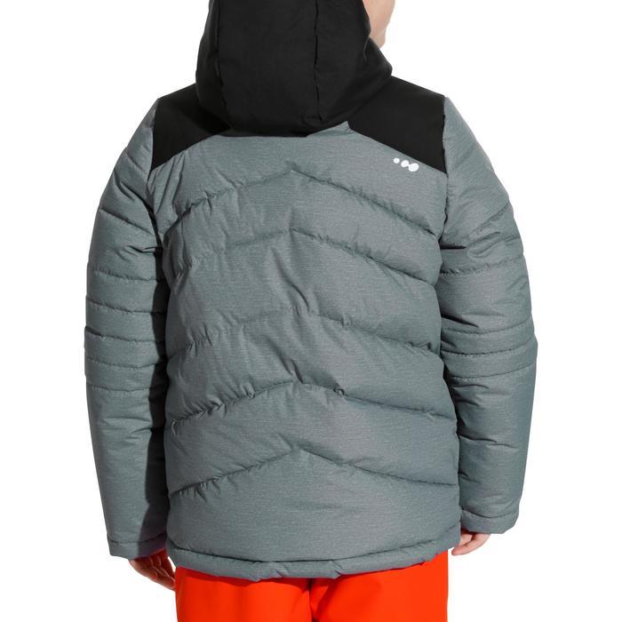 VESTE DE SKI ENFANT WARM 500 GRISE ET NOIRE