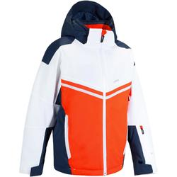 700 男童滑雪運動夾克 - 紅色/藍色/白色