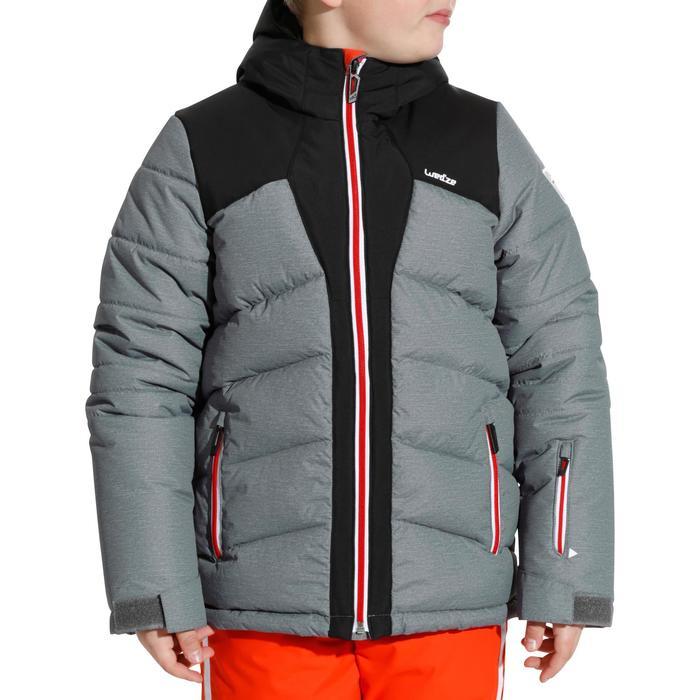 Skijacke Warm 500 Kinder grau/schwarz