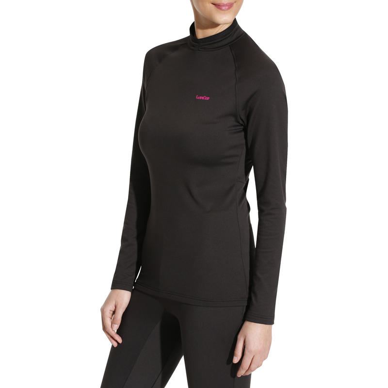 Women's base layer ski top FreshWarm - Black