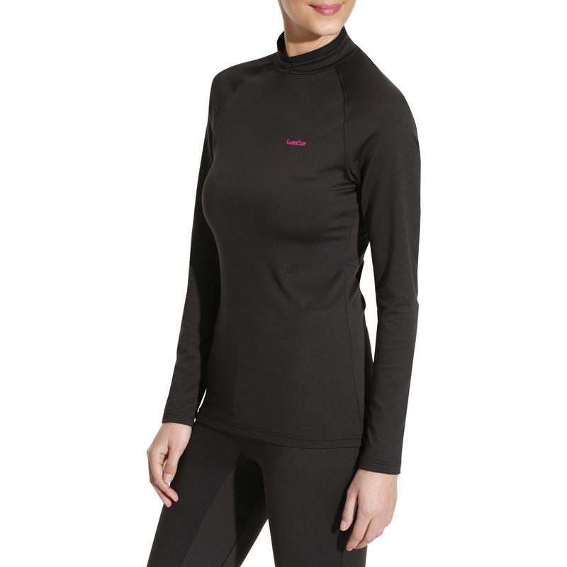 เสื้อตัวในเพื่อการเล่นสกีสำหรับผู้หญิงรุ่น Freshwarm (สีดำ)