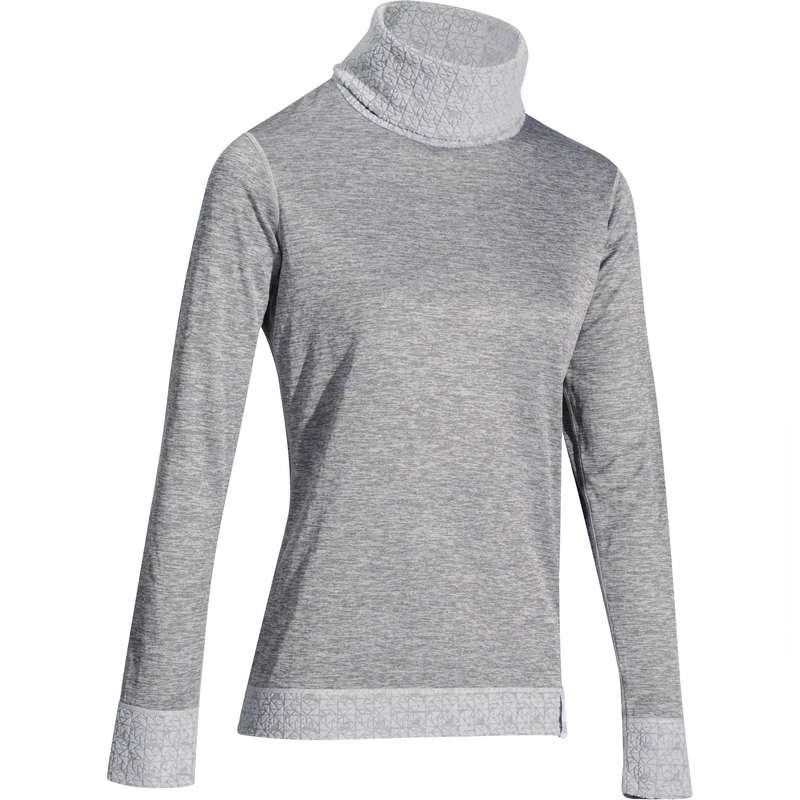 WOMEN SKI BASELAYER & PULL - 2Warm Women's Top - Grey WEDZE