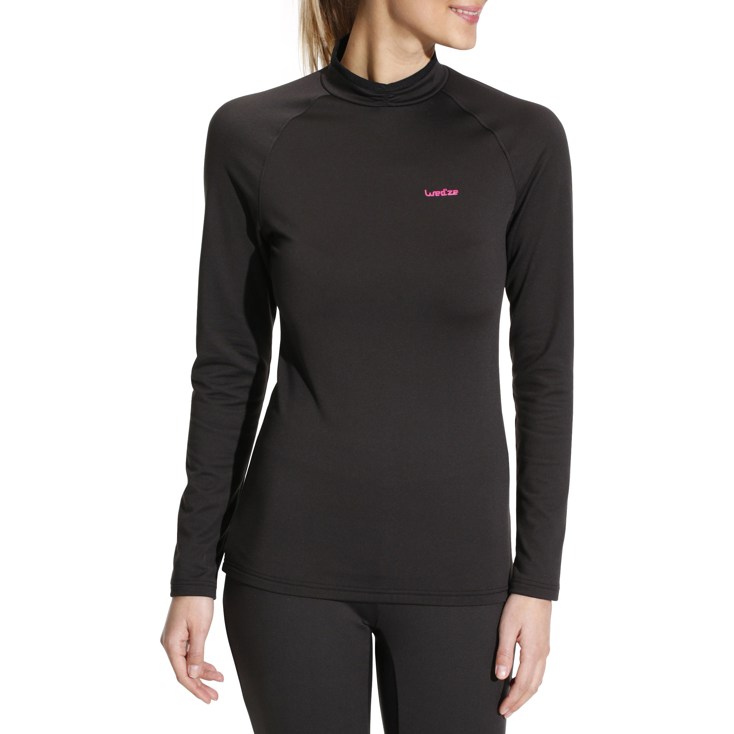 Freshwarm Women's Ski Base Layer Top - Black
