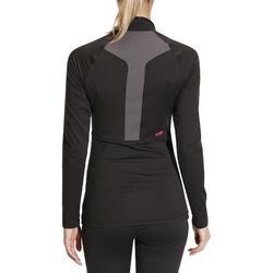 Camiseta térmica Esquí y Nieve Interior Wed'ze FreshWarm Mujer Negro
