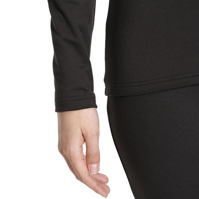 Ski-Unterwäsche Funktionsshirt Freshwarm Damen schwarz