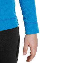 Camiseta Térmica Interior Nieve y Esquí Wed'ze 2Warm Niños Azul Eléctrico