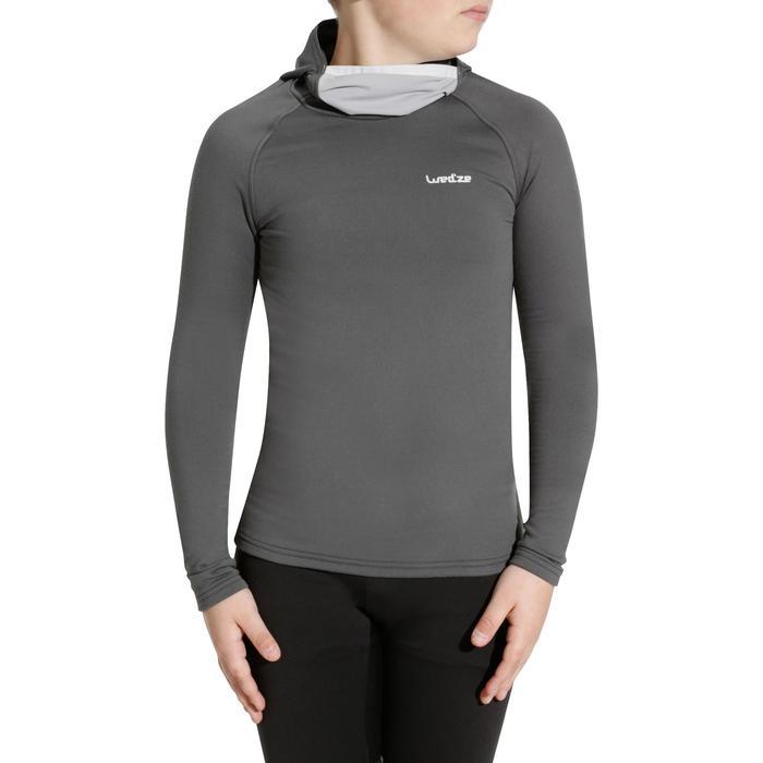 Sous-vêtement haut de ski enfant Freshwarm Neck gris