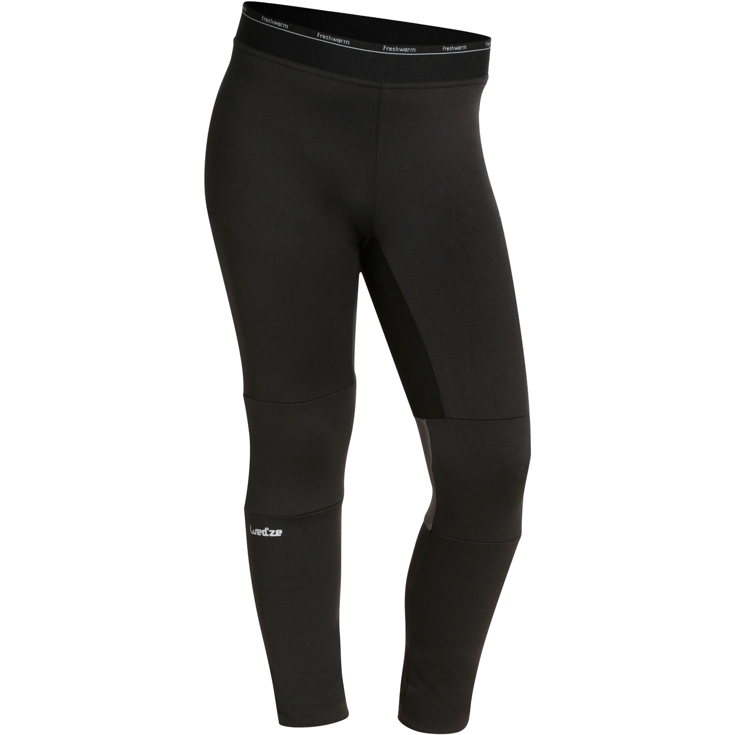 Freshwarm Children's Ski Base-Layer Bottoms - Black