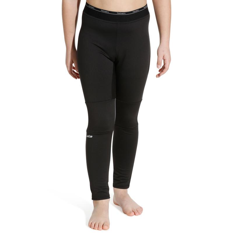 กางเกงตัวในเด็กสำหรับใส่เล่นสกีรุ่น Freshwarm (สีดำ)