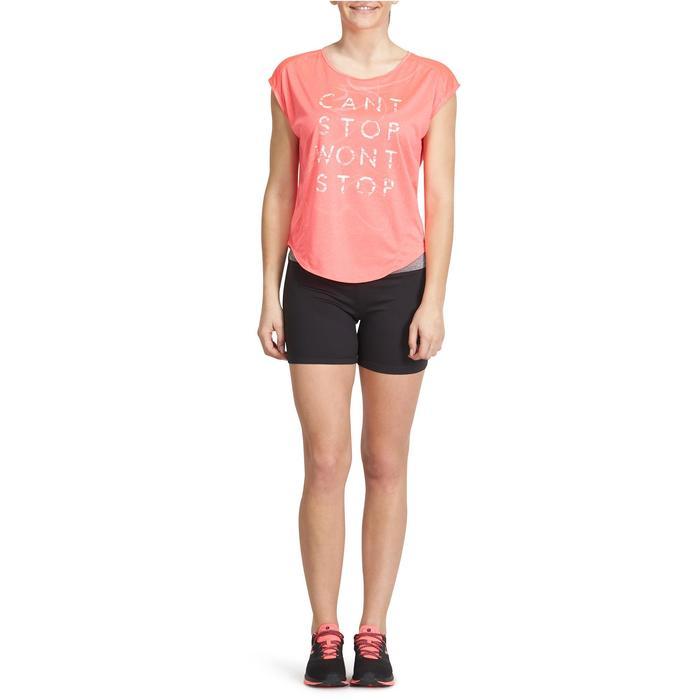 Short moulant fitness cardio femme noir ceinture contrastée Energy - 988428
