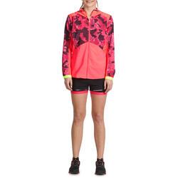 Short 2 in 1 fitness cardio dames zwart/roze Energy+ - 988464