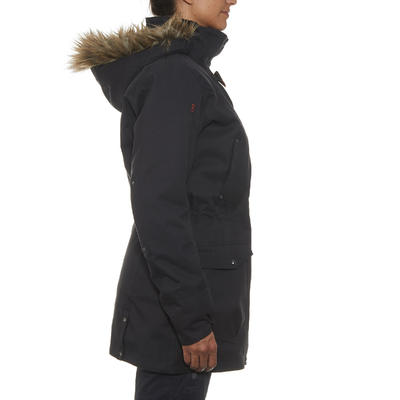Women's 3-In-1 Waterproof Comfort -10°C Travel Trekking Jacket - TRAVEL 700 blk