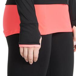 Fitnessvest Energy voor dames, voor cardiotraining, zwart met roze accenten - 988488