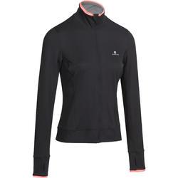 Fitnessvest Energy voor dames, voor cardiotraining, zwart met roze accenten - 988505