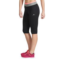 Kuitbroek fitness cardio Energy dames zwart met contrasterende boord - 988523