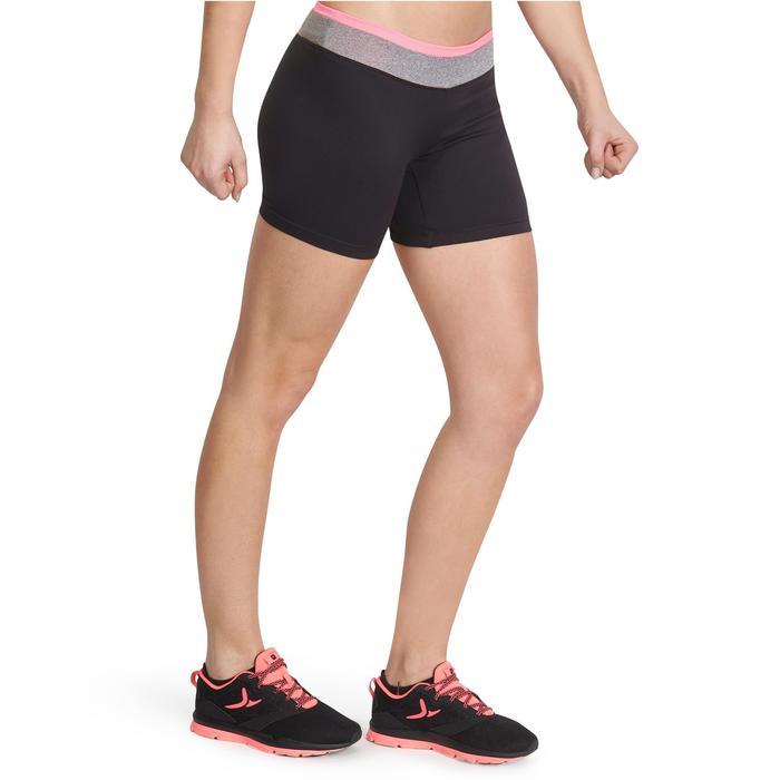 Short moulant fitness cardio femme noir ceinture contrastée Energy - 988538