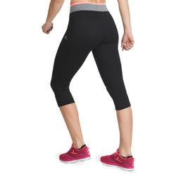 7/8-fitnesslegging cardio Energy dames zwart met contrasterende boord - 988552
